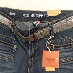 New Mossimo Flare Leg Low Waist Straight Hip Jeans